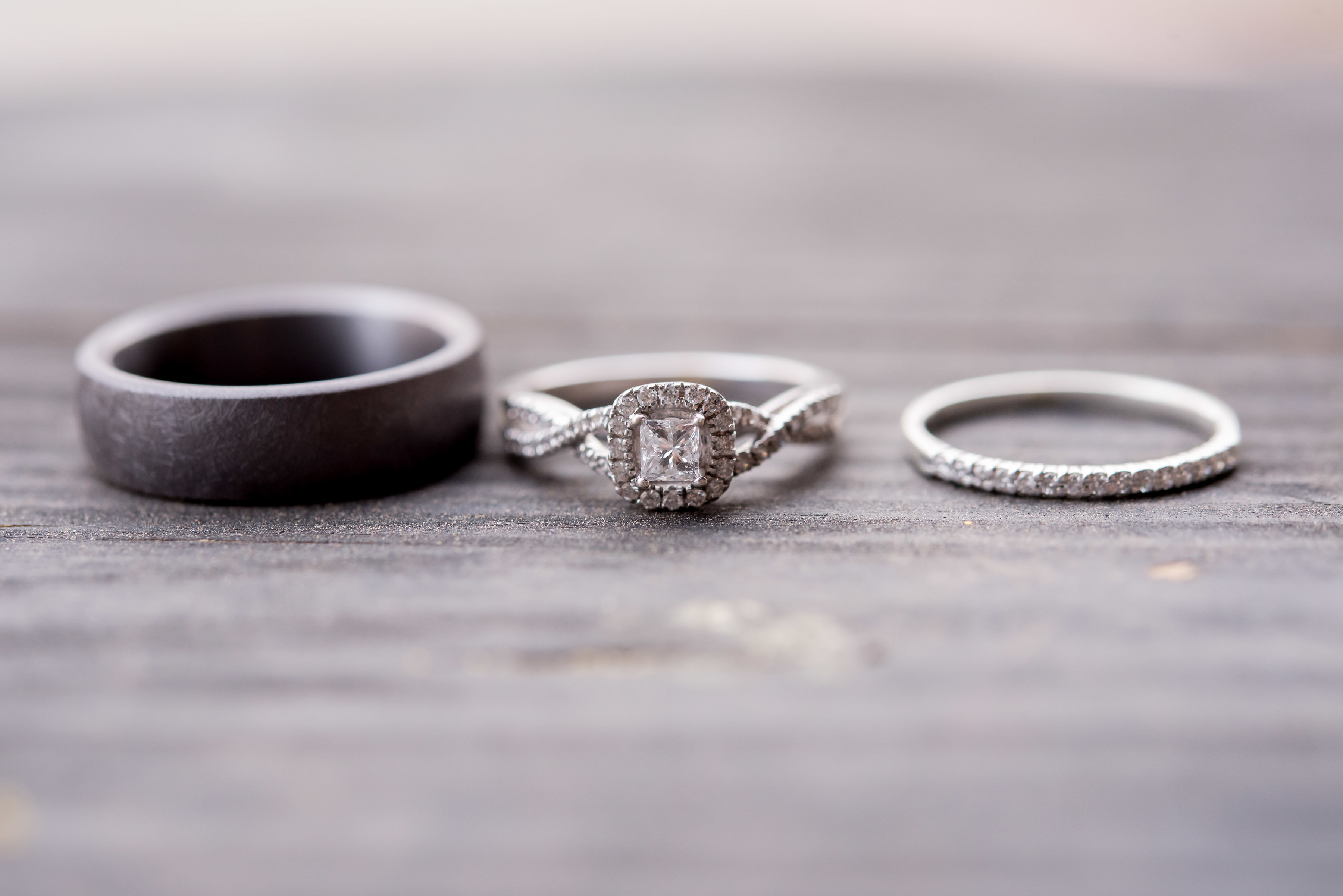 wedding planning design decor inspo real local New Mexico Perfect Wedding Guide ring shot detail photography diamond engagement jewelry close up bride groom romantic
