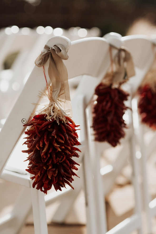 wedding planning decor details New Mexico southwestern chiles ristras
