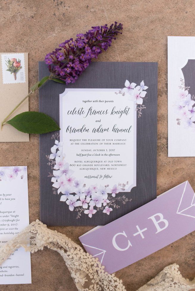 Perfect Wedding Guide New Mexico Albuquerque Santa Fe planning design inspo inspiration photography local marriage love engagement ceremony wedding invitation paper hyacinth lavender floral details pretty modern traditional