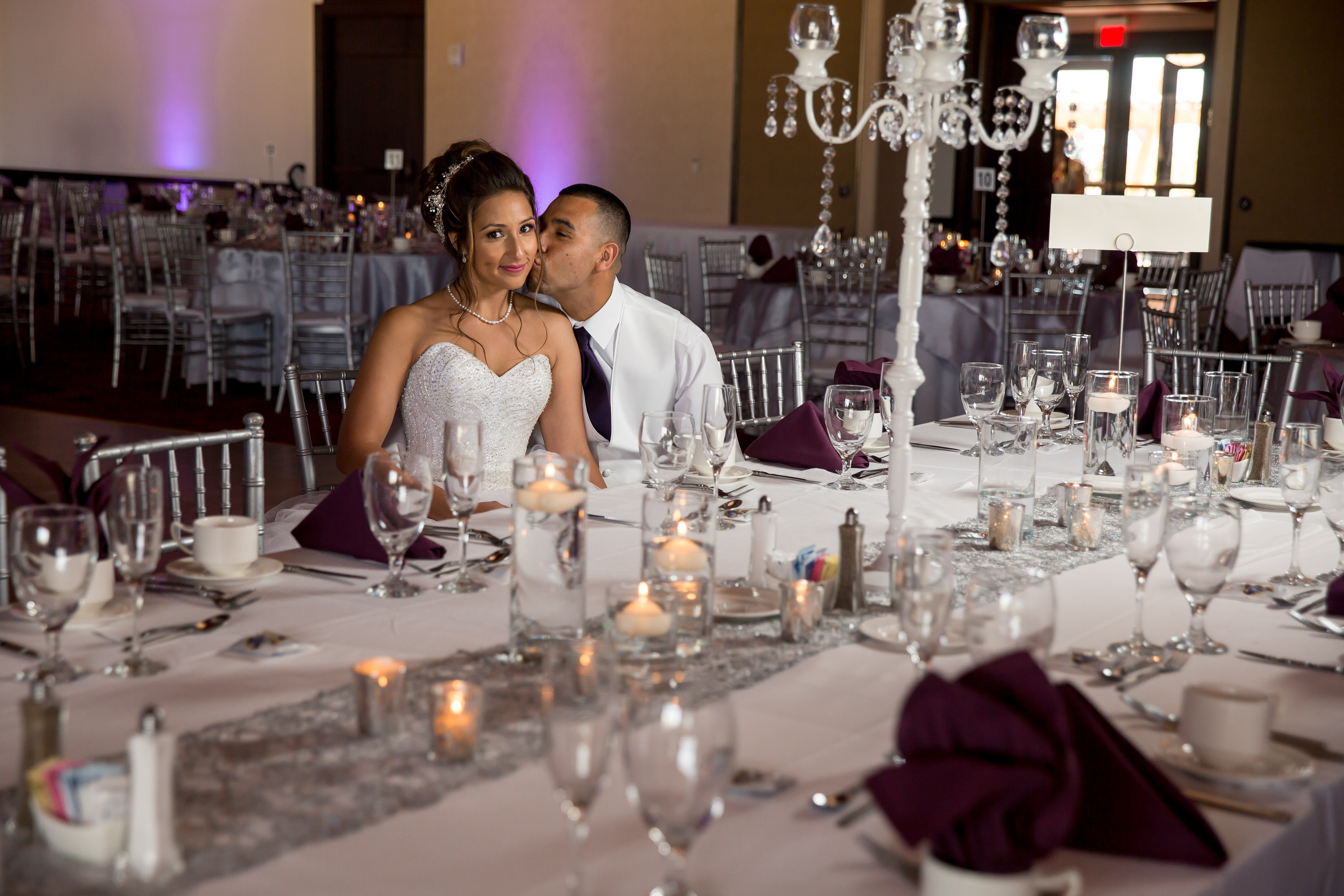 Perfect Wedding Guide planning design inspo ceremony inspiration marriage wedding vows celebration engaged planner tips tricks decor event New Mexico Albuquerque Santa Fe true love reception happily ever after white wedding silver details tablescape reception decor candles crystals