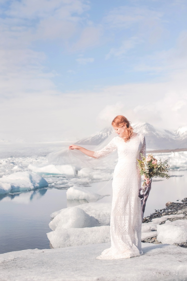 From Albuquerque to Iceland: Real Winter Wedding
