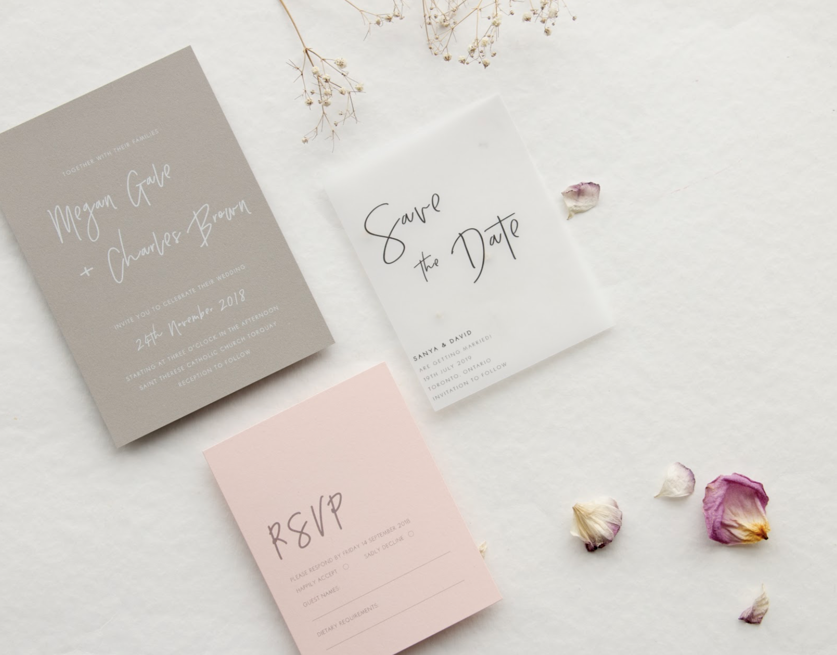 Save the Dates: Setting the Tone for Your Wedding {Guest Post