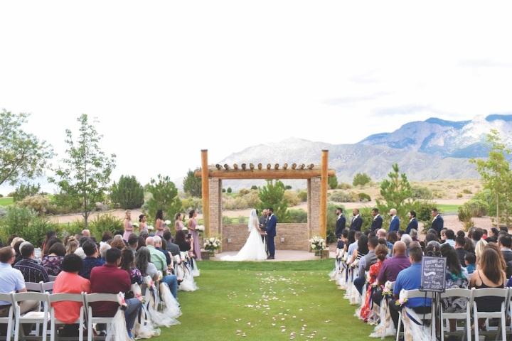 love wedding ceremony sandia golf club sandia casino sandia resort
