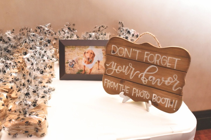 wedding decor sandia event center sandia casino dogs puppies dog treats goodie bags wedding venue