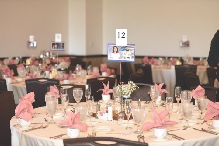 wedding reception sandia event center sandia resort and casino table setup