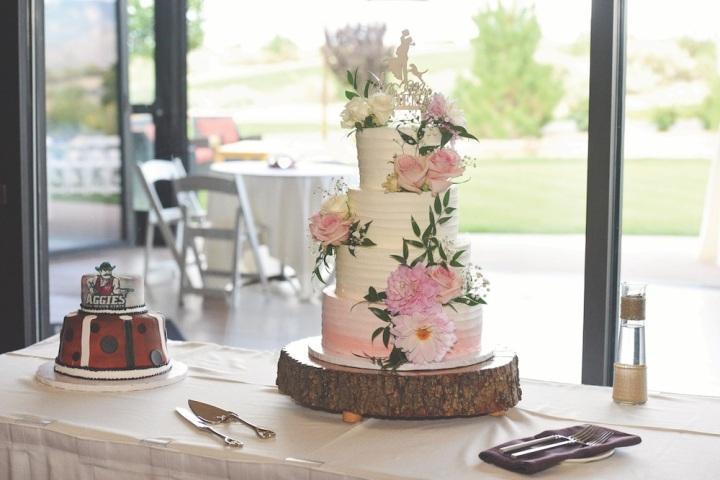 wedding cake sandia event center venue reception