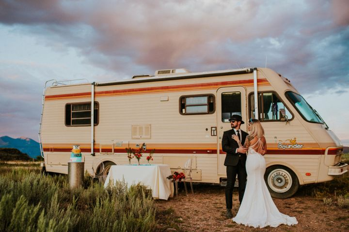 A 'Breaking Bad' Inspired Wedding Shoot